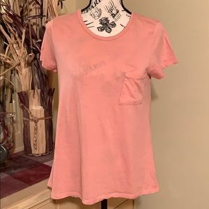 NWOT Large Peach Colored T-Shirt with Pocket